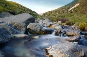 Water flowing in the Mournes